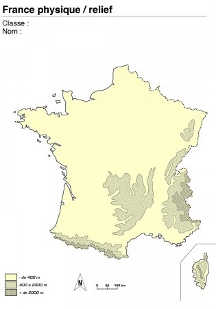 carte de france muette cycle 3