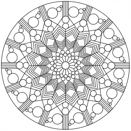 geometric coloring pages advanced nature - photo#19
