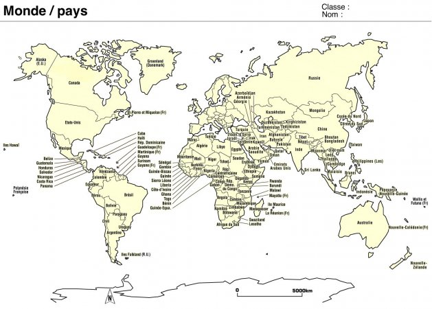 carte du monde avec nom des pays a imprimer my blog. Black Bedroom Furniture Sets. Home Design Ideas